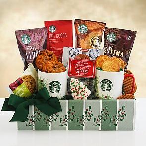 Starbucks Holiday Evergreen Sampler Gift Basket - Starbucks Holiday Evergreen Sampler Gift Basket