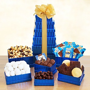 Kosher Sweets Gift Tower - Hanukkah Gift Baskets - #HanukkahGiftBaskets
