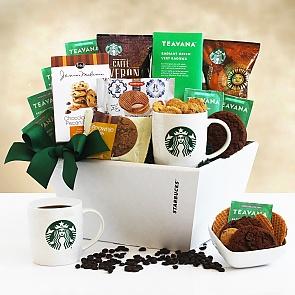 Starbucks Deluxe Gift Basket - Starbucks Deluxe Gift Basket