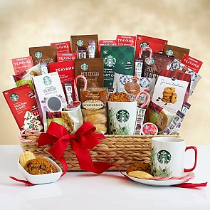 Starbucks Super Spectacular Holiday Gift Basket  - Starbucks Super Spectacular Holiday Gift Basket