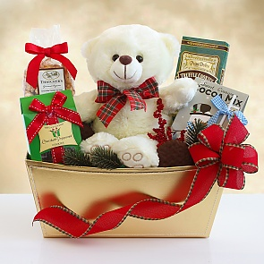 Beary and Bright Holiday Gift Basket - Beary and Bright Holiday Gift Basket