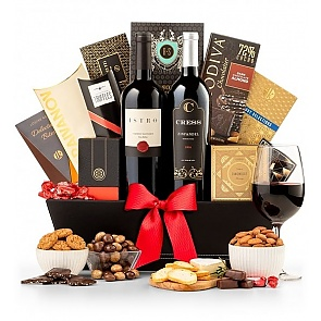 Wine and Gourmet Extravagance Gift Basket - Wine and Gourmet Extravagance Gift Basket
