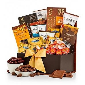 Sweet Sensations Godiva Gift Basket - Sweet Sensations Godiva Gift Basket