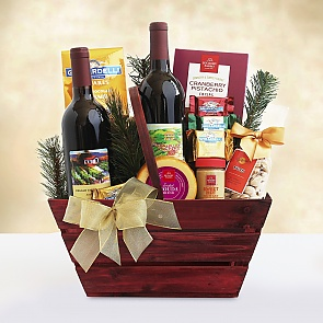 Napa Valley Charm Wine Gift Basket - Napa Valley Charm Wine Gift Basket