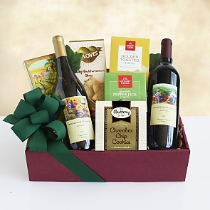 Tasting and Toasting Wine Gift Basket - Tasting and Toasting Wine Gift Basket