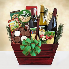 A Bounty of Wine Gift Basket - A Bounty of Wine Gift Basket