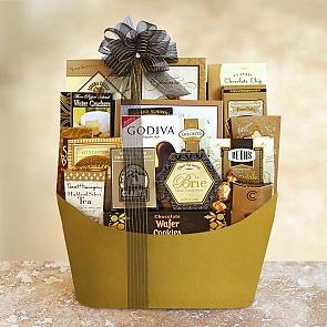 Black Tie VIP Elegance Gift Basket - Black Tie VIP Elegance Gift Basket