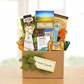 Thoughts and Prayers Sympathy Gift Basket  - Thoughts and Prayers Sympathy Gift Basket
