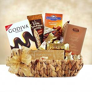 Golden Chocolate Sampler - Golden Chocolate Sampler  #ChristmasGiftBaskets