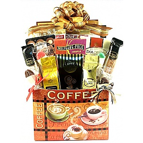 Village Caffe Deluxe Coffee Lovers Gift Basket -
