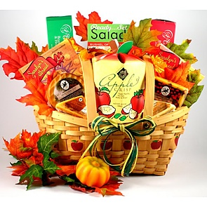 Autumn Abundance Gift Basket - Send Fall Gift Baskets #FallGiftBaskets
