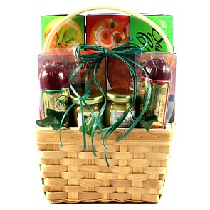 Cheese, Sausage and More, Gift Basket -