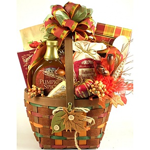 Falling Leaves Autumn Breakfast Gift Basket - Send Fall Gift Baskets #FallGiftBaskets