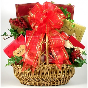 Happy Valentines Day Gift Basket - Valentine's Day Gift Baskets