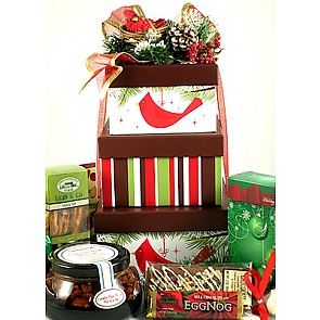 Our Nest to Yours Holiday Tower - Christmas Gift Towers