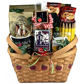 A+ Teacher Gift Basket - A+ Teacher Gift Basket  #TeacherGiftBasket