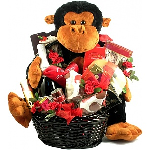 I'm Ape Over You Gift Basket - Romantic Gift Baskets for Couples