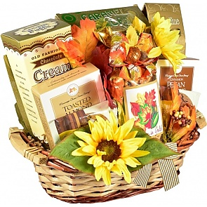 Autumn In Gold Gift Basket