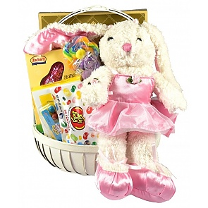 Ballerina Bunny Gift Basket - Send kids Easter baskets online