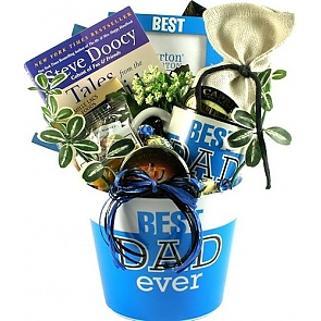 Best Dad Ever Gift Basket For Fathers -
