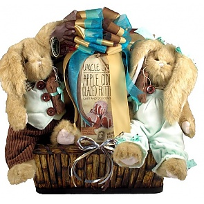 Bunny Patch Deluxe Easter Gift Basket - Send Easter baskets online