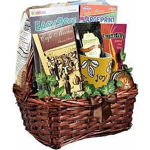 Crosswords and Coffee Gift Basket