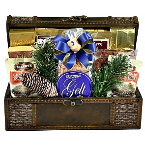 A Celebration of Hanukkah Gift Basket (Small) - Hanukkah Gift Baskets - Chanukah Gifts #HanukkahGiftBasket