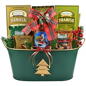 Christmas Elegance, Holiday Gift Basket - Christmas Elegance, Holiday Gift Basket #ChristmasGiftBasket
