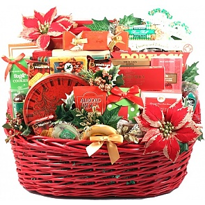 Christmas Party, Deluxe Holiday Gift Basket - Christmas Party, Deluxe Holiday Gift Basket #ChristmasGiftBasket
