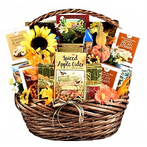 The Colors of Fall Thanksgiving - Fall Gift Basket - Large - The Colors of Fall Thanksgiving - Fall Gift Basket - Large