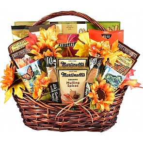 The Colors of Fall Thanksgiving - Fall Gift Basket - Small - The Colors of Fall Thanksgiving - Fall Gift Basket - Small