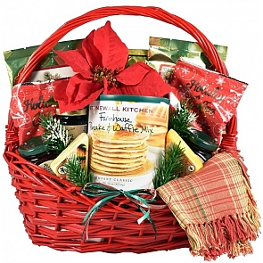 A Country Christmas Breakfast Basket - Country Christmas Breakfast Basket - Large #ChristmasGiftBasket #ChristmasBreakfastBasket