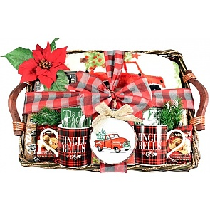 Cozy Christmas Gourmet Holiday Gift Basket - Cozy Christmas Gourmet Holiday Gift Basket