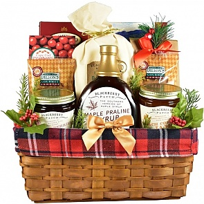 Down Home Breakfast Holiday Gift Basket - Front - Down Home Breakfast Holiday Gift Basket #HolidayGiftBasket