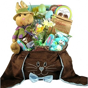Deluxe Chocolate Bunny Easter Gift Basket - Send Easter baskets online