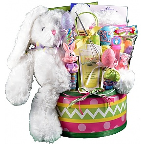 Easter Egg Hunt, Easter Basket For Kids - Large - Pink - Send kids Easter baskets online