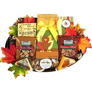 Give Thanks Fall Platter - Send Fall Gift Baskets #FallGiftBaskets