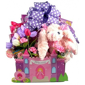 Send easter baskets kids easter baskets delivered fit for a princess easter gift basket small negle Choice Image