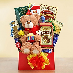 Beary Happy Birthday Gift Basket - Beary Happy Birthday Gift Basket