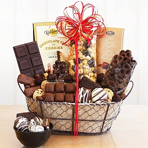 Chocolate Decadence Gift Basket - Chocolate Decadence Gift Basket