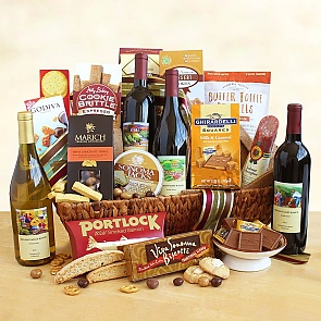 California Splendor Wine and Snack Gift Basket - California Splendor Wine and Snack Gift Basket