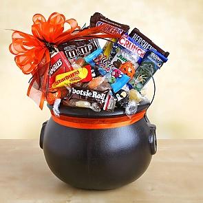 Halloween Cauldron of Chocolate Treats - Halloween Cauldron of Chocolate Treats