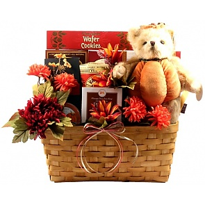 Gobble Gobble Thanksgiving Gift Basket - Gobble Gobble Thanksgiving Gift Basket #ThanksgivingGiftBasket