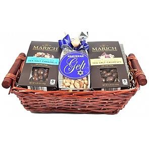 Happy Hanukkah Gift Basket - Top - Hanukkah Gift Baskets - Chanukah Gifts