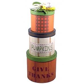 Harvest Blessings Gift Basket - Harvest Blessings Gift Tower #FallGiftBasket #ThanksgivingGiftBasket