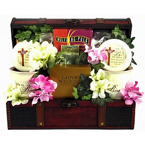 He Is Risen Christian Gift Trunk - Christian Gift Baskets #ChristianGiftBaskets