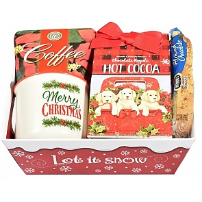 Holly Jolly Christmas Gift Basket - Merry Christmas Mug - Holly Jolly Christmas Gift Basket
