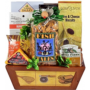 Hook, Line and Sinker Fishing Gift Basket - Hook, Line and Sinker Fishing Gift Basket #FishingGiftBasket
