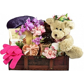 I Treasure You Spa Gift Basket - Spa Gift Baskets for Women