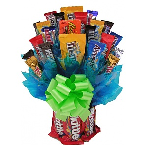 Skittles and More Candy Bouquet - Medium - Send Candy Bouquets #SkittlesCandyBouquet